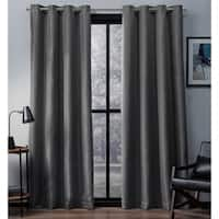 ATI Home Eglinton Woven Blackout Grommet Top Curtain Panel Pair