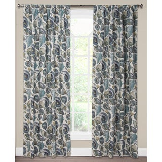 SIScovers Turquoise Cotton Blend Sea Medley Curtain Panel
