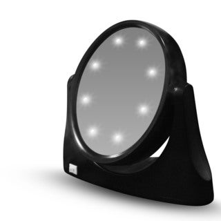 Rucci Black LED Vanity Stand Mirror