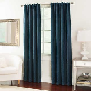 Textured Jacquard Cotton 84-inch Curtain Panel Pair
