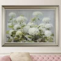NA Danhui Nai 'White Hydrangea Garden' Framed Art