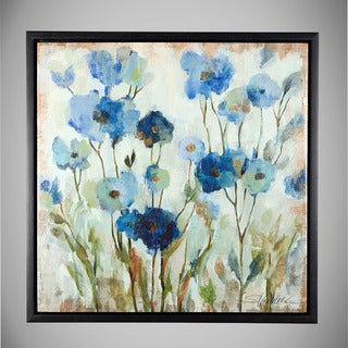 Blue Abstract Floral Art