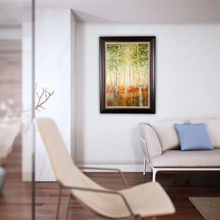 Nan 'Birch Woods' Framed Canvas Art