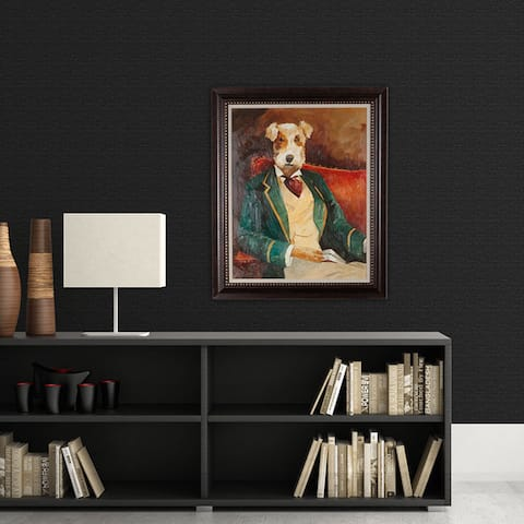 NA Avery Tillman 'Edgar Allen Paw' Framed Art