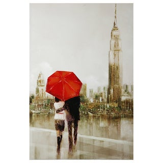 Ruane Manning 'Modern Couple in Paris' Print on Canvas Art