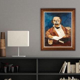 Avery Tillmon 'Nathaniel Howlthorn' Framed Canvas Art