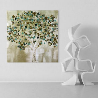 Katrina Craven 'A Teal Tree' 32-inch x 32-inch Canvas Art