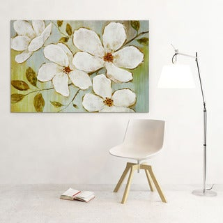 NAN F 'White Blossoms' Canvas Art
