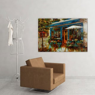 NA Nan F 'Le Petit Cafe' Canvas Art