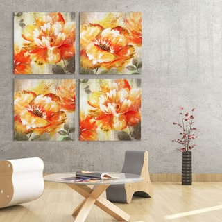 NAN F 'Orange Crush II' Gallery-wrapped Canvas Art