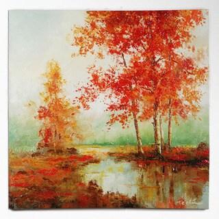 T.C. Chiu 'Autumn's Grace II' Hand-painted Art