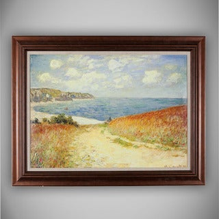 Claude Monet 'The Passage to the Sea near Pourville, 1882' Canvas Art