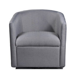 US Pride Furniture Madge Grey/Beige Fabric/Foam/Wood Contemporary Swivel Accent Chair