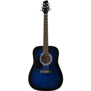 Stagg Blueburst Left-handed Dreadnought Acoustic 3/4-size Guitar