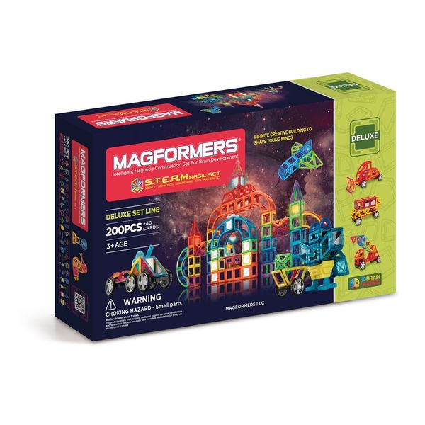 Magformers STEAM Basic 200-piece Erector Set