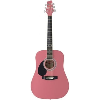 Stagg SW201 3/4 LH PK Pink Left Handed Dreadnought Acoustic 3/4 Size Guitar