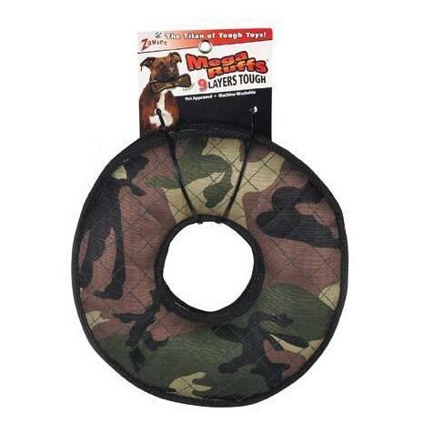 "Zanies MegaRuffs Camo Tire Dog Toy (12""), Multi"