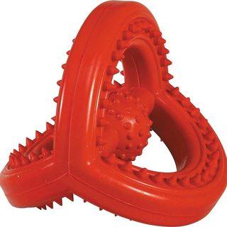 Zanies Orange Hard Rubber Space Station Dog Toy