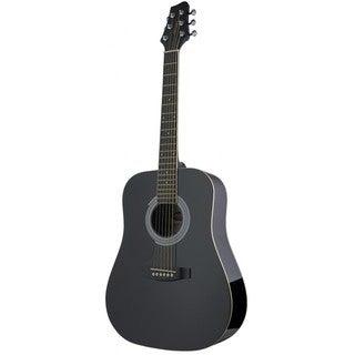 Stagg SW201 3/4 LH BK Black Left-handed 3/4-size Dreadnought Acoustic Guitar