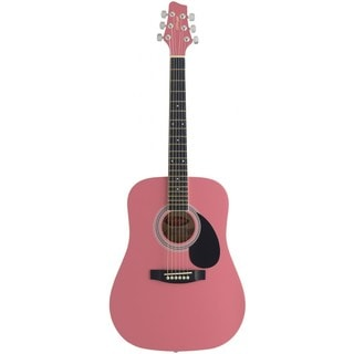 Stagg SW201 3/4 PK Pink Dreadnought Acoustic 3/4 Size Guitar