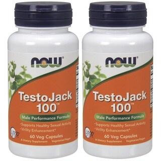 Now Foods TestoJack 100 Veggie Capsules (60 Capsules)