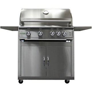 Hanover Grills Stainless Steel 32-inch 4-burner Liquid Propane Grill with Cart