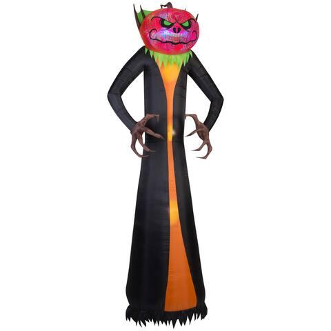 Gemmy Airblown Inflatables Pumpkin Reaper Multicolor Plastic/Metal/Synthetic Fiber Projection Phantasm