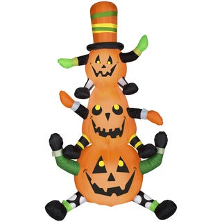 Gemmy Airblown Inflatables Animated Whimsy Pumpkin Stack