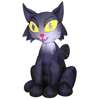 Gemmy Airblown Inflatables Multicolor Plastic/Metal/Synthetic Fiber Outdoor Scary Cat