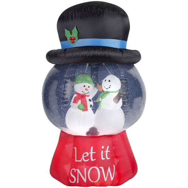 Gemmy Christmas 10 W Airblown Inflatable Winter Carolers: Shop Gemmy Airblown Inflatables Snow Globe With Snowman