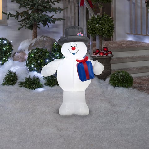 Gemmy Airblown Inflatables Frosty With Present
