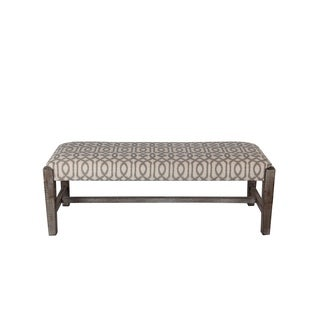 Privilege Eclectic Brown Wood/Fabric 48-inch Bench