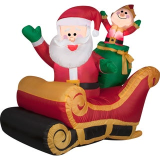 Gemmy Airblown Inflatables Santa with Sleigh