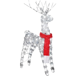 Gemmy Silver Glitter LED Lighted Buck