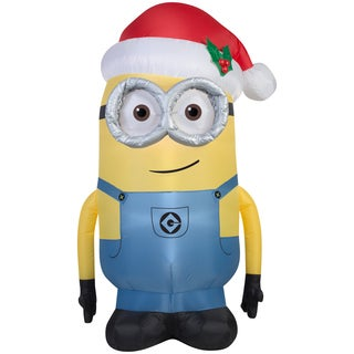 Gemmy Airblown Inflatables Multicolor Plastic/Metal/Synthetic Fiber Minion Dave