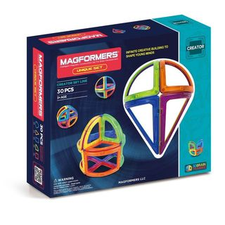 Magformers Unique Multicolor Plastic 30-piece Set