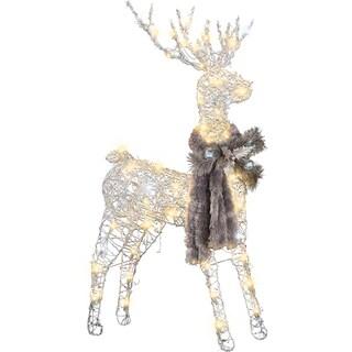 Gemmy Frozen Fire Silver Vines Buck