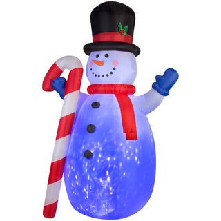Gemmy Airblown Inflatables Projection Kaleidoscope Snowman