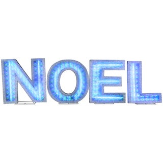 Gemmy Lights Shadow Box 'NOEL' Letters