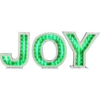 Gemmy Lights Shadow Box 'JOY' Letters