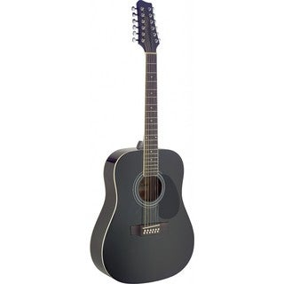 Stagg SA40D/12 Black Dreadnought Acoustic 12 String Guitar