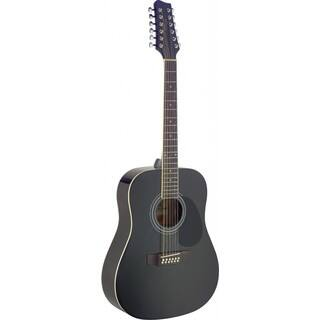 Stagg SA40D/12 Black Dreadnought Acoustic 12 String Guitar|https://ak1.ostkcdn.com/images/products/12108667/P18970500.jpg?impolicy=medium