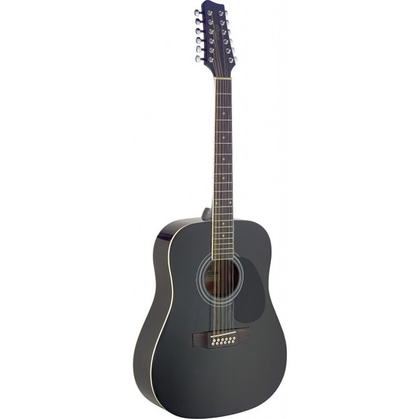 shop stagg sa40d 12 black dreadnought acoustic 12 string guitar free shipping today. Black Bedroom Furniture Sets. Home Design Ideas