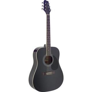Stagg SA40D-BK Black Dreadnought Acoustic Guitar