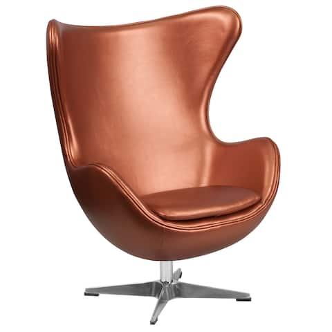 """Egg Chair with Tilt-Lock Mechanism - 33.75""""W x 30""""D x 43""""H"""