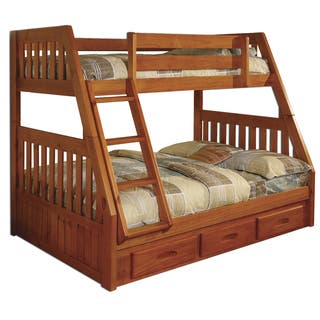 Honey Wood Pine Twin over full Bunk Bed With Drawers and Matching  Entertainment. Southwestern Bedroom Sets For Less   Overstock com