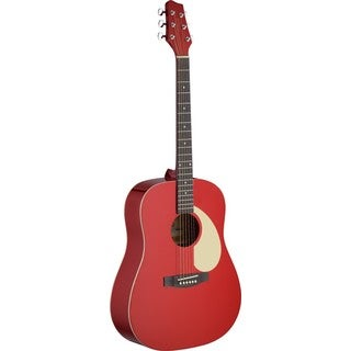 Stagg SA30D-RA Apple Red Dreadnought Acoustic Guitar