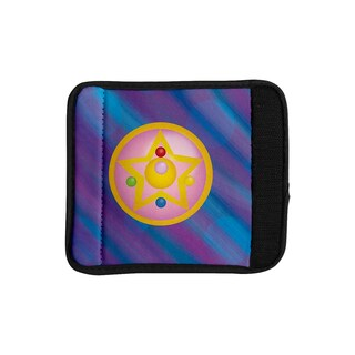 KESS InHouse NL Designs 'Moon' Purple Blue Luggage Handle Wrap