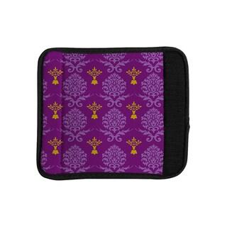 KESS InHouse Nicole Ketchum 'Purple Crowns' Luggage Handle Wrap