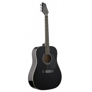 Stagg SW201BK Black Dreadnought Acoustic Guitar